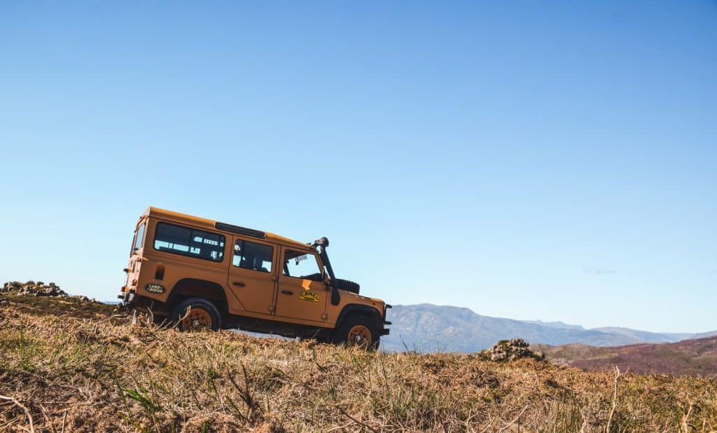 Jeep Defender no Gerês